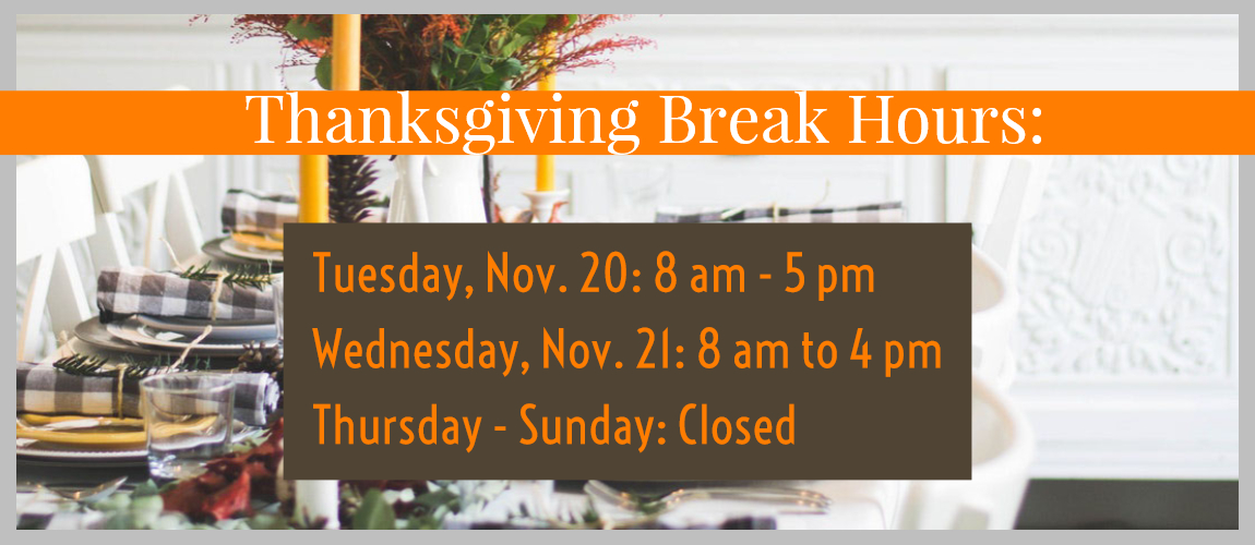 Washburn Bookstore Holiday Hours