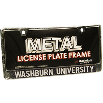 License Frame - WU Black Chrome