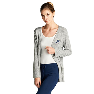 Cardigan - Ladies Ichabod Heather Gray