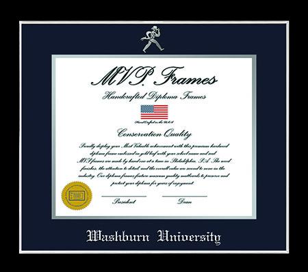 Washburn Diploma Frame - Silver Trim