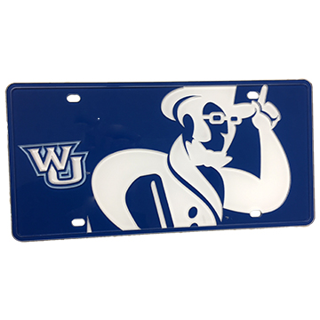 License Plate - WU Ichabod