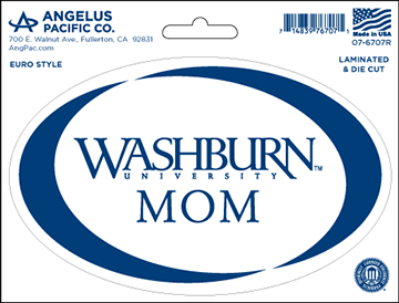 WU Decal - Washburn Mom