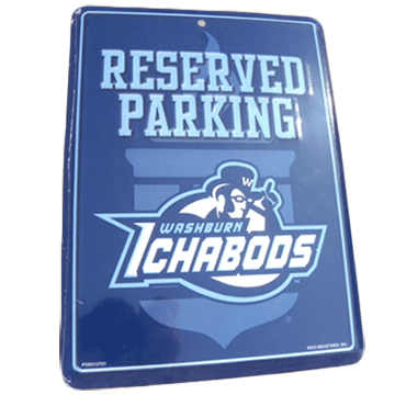 Cover Image For Parking Sign - Washburn Reserved