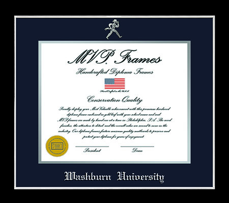 Image For Washburn Diploma Frame - Silver Trim