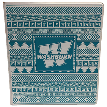 Image For Binder - White and Turquoise Washburn