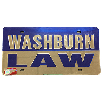 Image For License Plate - Washburn Law