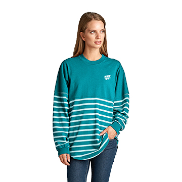 Cover Image For Tee - LS Striped Spirit Jersey