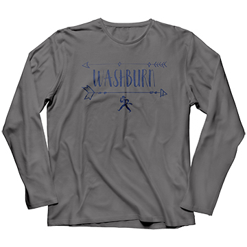 Image For Tee - Ladies LS Washburn Arrows