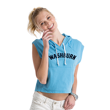 Image For Hoodie - Ladies Washburn Arch Crop Top