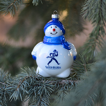 Image For Ornament - WU Snowman Globe