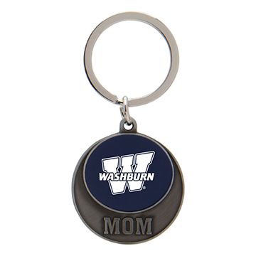 Cover Image For Keychain - WU Mom Circle Disc