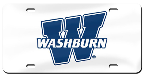 "Cover Image For License Plate - ""W"" Blue on White"