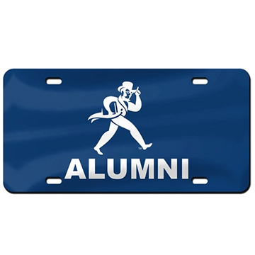 Cover Image For License Plate - Washburn Alumni on Blue