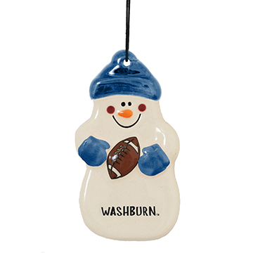 Image For Ornament - Spirit Products Football Snowman