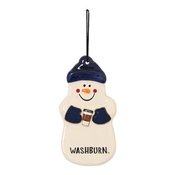 Image For Ornament - Spirit Products Snowman with Coffee