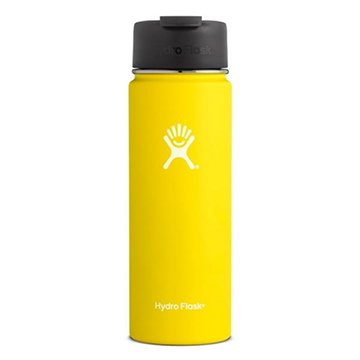 Image For Hydro Flask - 20 oz Yellow Wide Flip