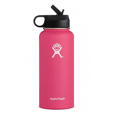 Image For Hydro Flask - 32 oz Wide Mouth w/ Straw Lid Watermelon