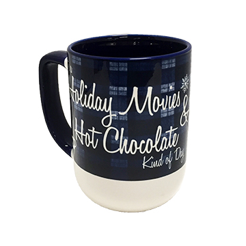 Cover Image For Mug - Holiday Movies & Hot Chocolate