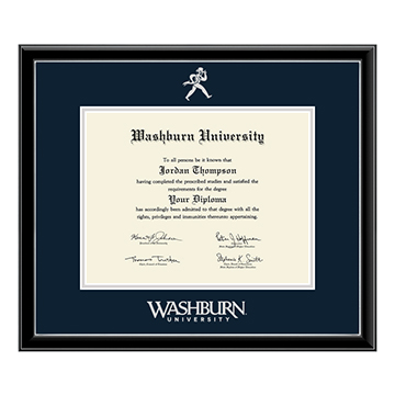 Cover Image For Diploma Frame - Silver Embossed