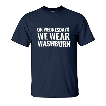 Image For Tee - On Wednesdays We Wear Washburn