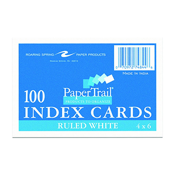 Image For INDEX CARD 4X6 100 CT