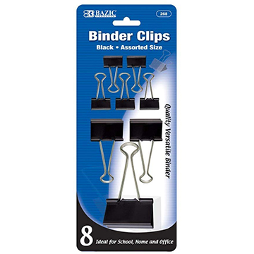 Image For BAZIC BLACK BINDER CLIP A