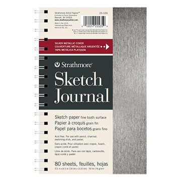 Image For JOURNAL SKETCH SLVR METAL