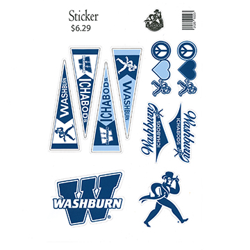 Image For Sticker - Washburn Ichabods Assorted