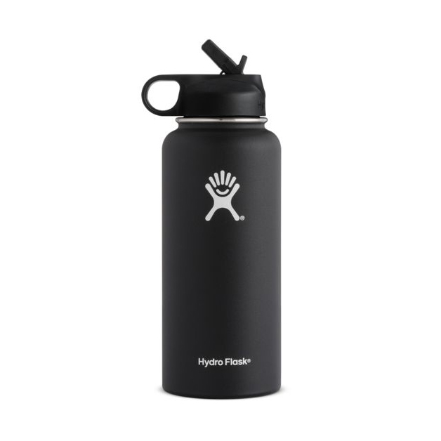 Image For BOTTLE 32 BLK WIDE STRAW