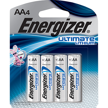 Image For BATTERIES AA LITHIUM 4PK