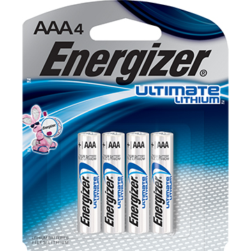 Image For BATTERIES AAA LITHIUM 4PK