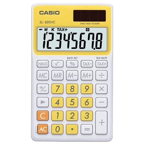 Image For CALC YLW CASIO SL-300VC