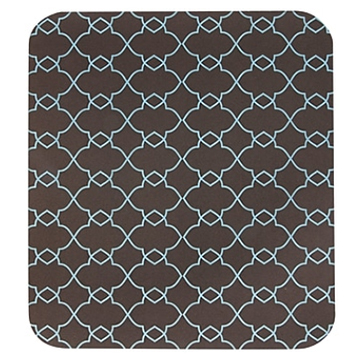 Image For Mouse Pad - Brown/Blue Fine Lattice