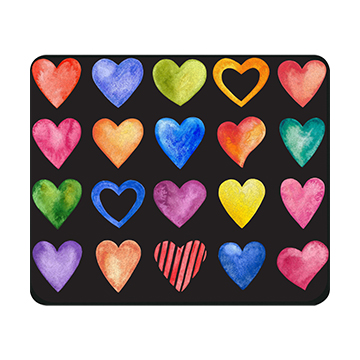 Image For Mouse Pad - Color Hearts