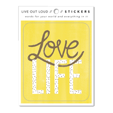 Image For Sticker - Love Life