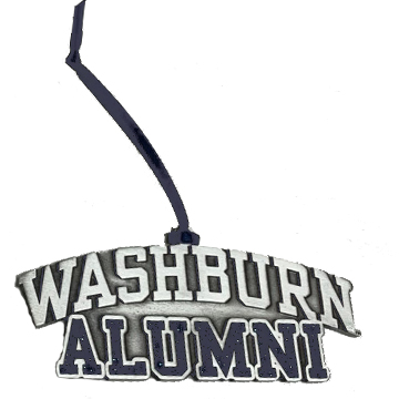 Image For Ornament - Alumni Pewter with Glitter Fill